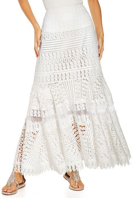 Long lace maxi skirt image