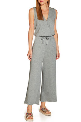Surplice pocket front jumpsuit