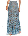 3d Floral Lace Maxi Skirt Photo