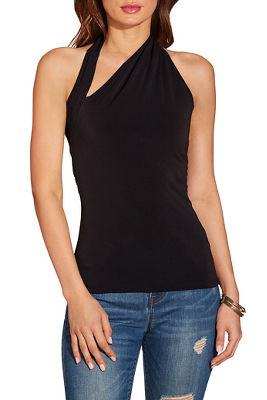 Asymmetric sleeveless top
