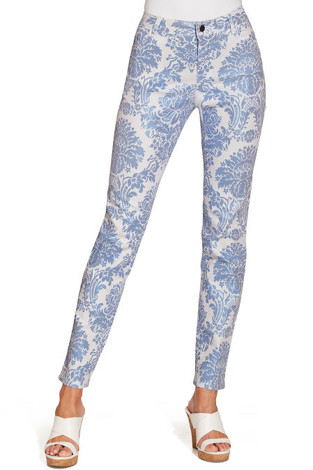 Classic paisley ankle jean image