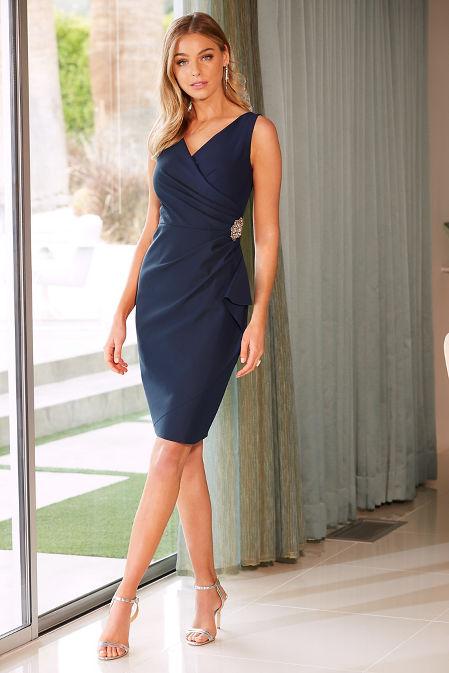 Embellished compression dress image