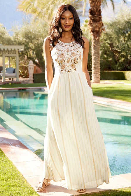 Embellished maxi dress image