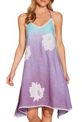 Flower ombré halter dress
