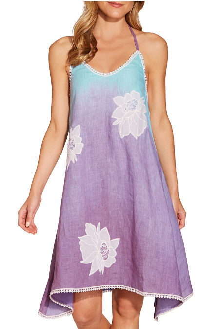 Flower ombré halter dress image