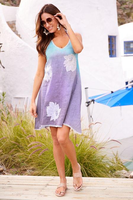 Flower ombré halter dress image