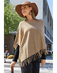 Fringe Sweater Poncho Photo