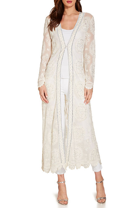 Lace beaded duster image