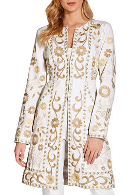 Embroidered trench coat