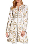 Embroidered Trench Coat Photo