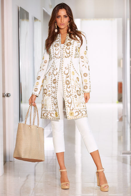 Embroidered trench coat image
