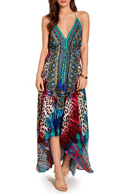 Multicolor animal maxi dress