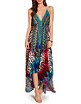 Multicolor Animal Maxi Dress Photo