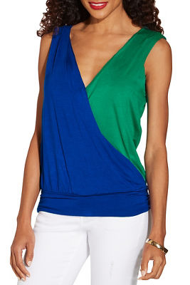 Multicolor surplice top