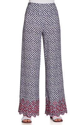 Printed embroidered sport pant