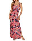 Ruched Tropical Print Maxi Dress Photo