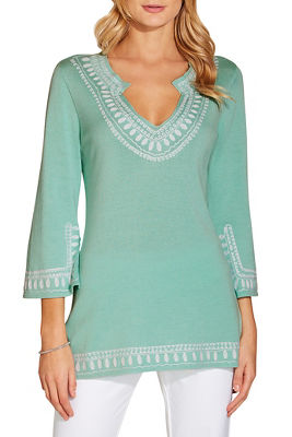 Soutache tunic sweater