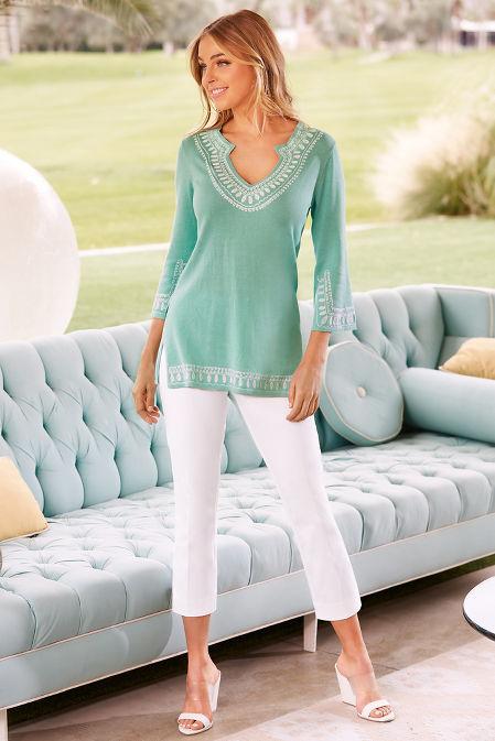 Soutache tunic sweater image