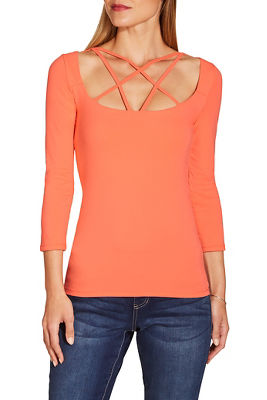So Sexy™ strappy front three quarter sleeve top