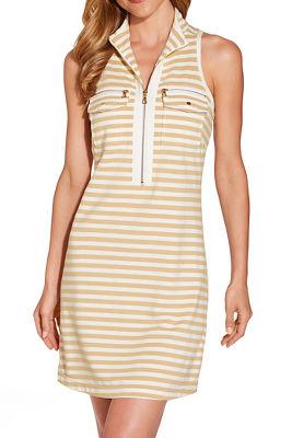 Stripe racerback chic zip dress