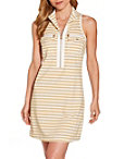Stripe Racerback Chic Zip Dress Photo