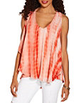Tie Dye Chiffon Overlay Top Photo