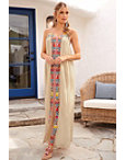 V Neck Embroidered Maxi Dress Photo