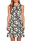 Zippered Geometric Dress Photo