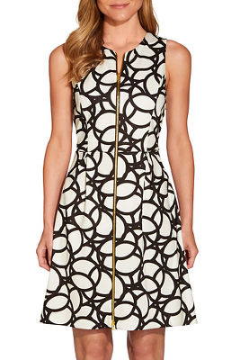 Zippered geometric dress