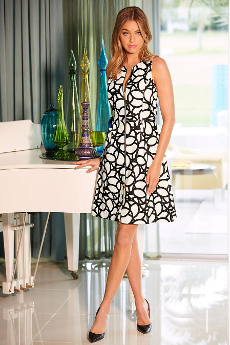Zippered geometric dress image