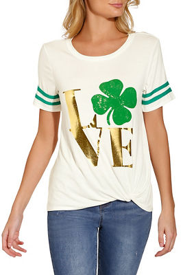 Love St. Patrick's short sleeve top