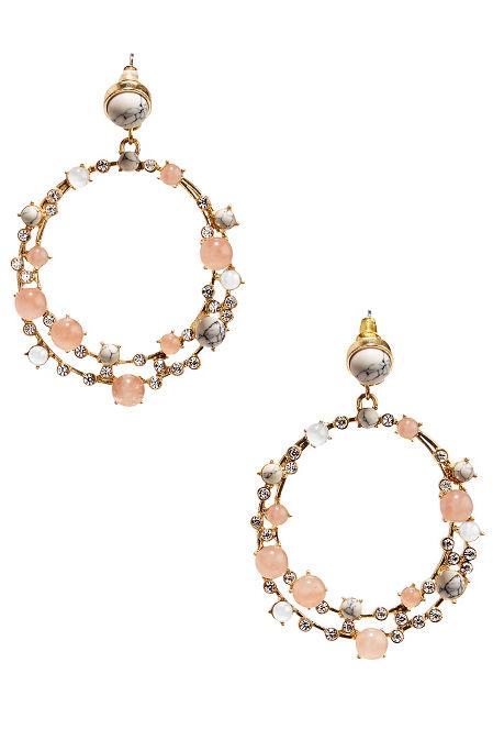 Marble pastel hoop earrings image