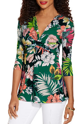 Knot front printed top