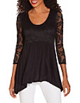 Lace Sleeve Babydoll Top Photo
