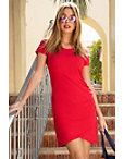 Cap Sleeve Ruched T-shirt Dress Photo