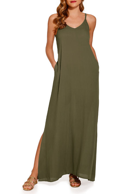 Flowy weekend maxi dress image