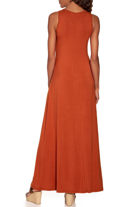 High neck maxi dress image
