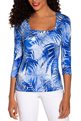 So Sexy™ square neck print top