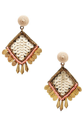 Diamond sequin earrings