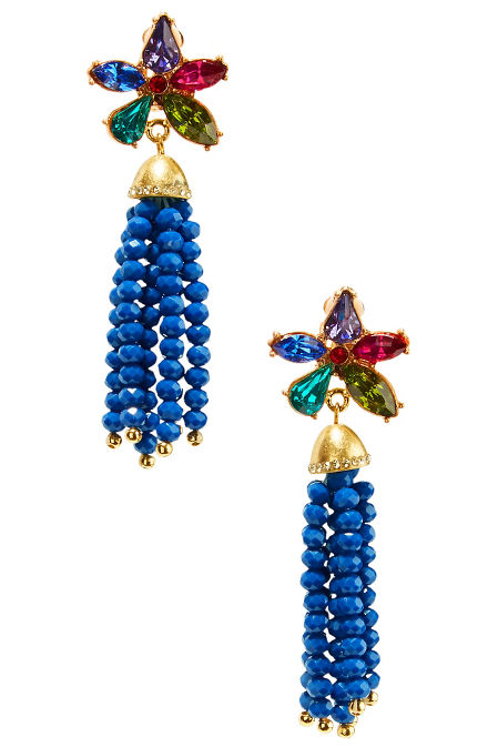 Multifloral fringe earrings image