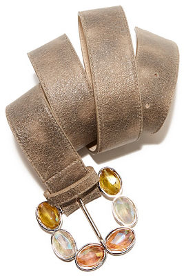 Pastel stone buckle belt