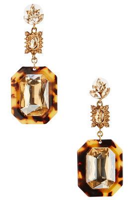 tortoise dangle earrings