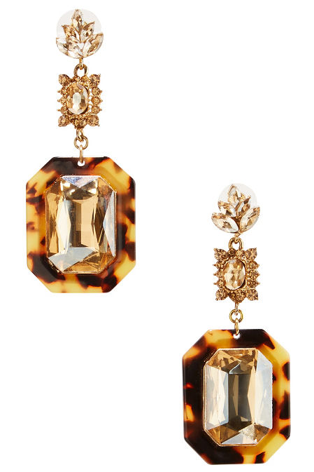 Tortoise dangle earrings image