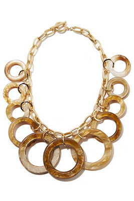 tortoise statement necklace
