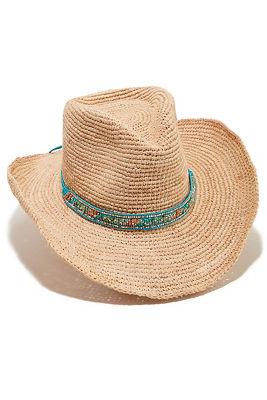 Turquoise trim cowboy hat