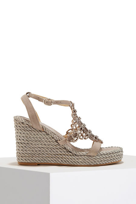 Chainmail espadrille wedge image