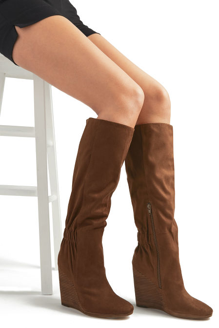 Cinched Back Wedge Boot image
