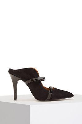 double strap mule heel