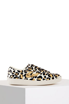 Leopard Print Metallic Sneaker