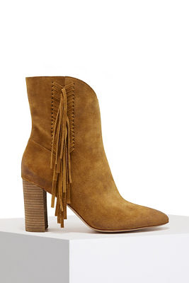 Side fringe bootie